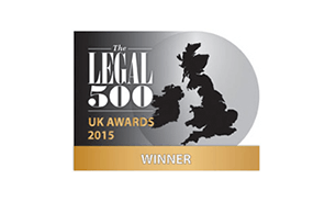 Winckworth Sherwood named The Legal 500's 2015 Specialist Public Sector firm of the Year