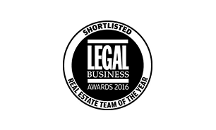 Winckworth Sherwood shortlisted for Legal Business Awards 2016 - Real Estate Team of the Year