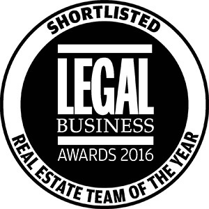 Winckworth Sherwood - Shortlisted for 'Real Estate Team of the Year' at the Legal Business Awards 2016