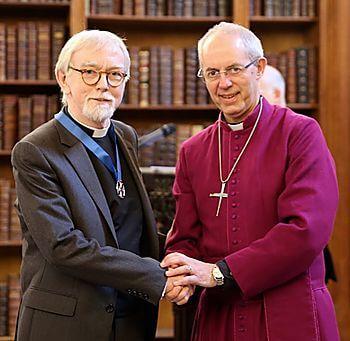 Senior Partner John Rees awarded the Canterbury Cross award by the Archbishop of Canterbury